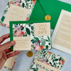 Botanical Bright Save the Date Cards