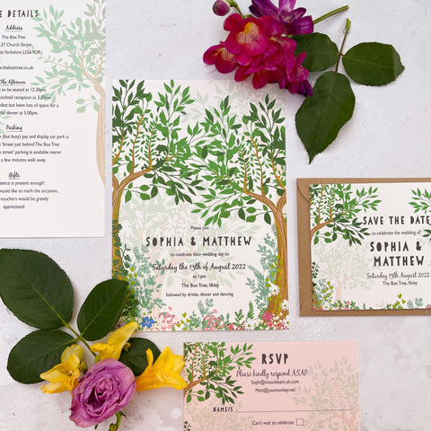 Enchanted Woodland Day Wedding Invitations