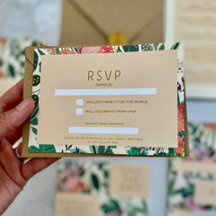 Botanical Bright RSVP Cards