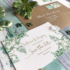 Geo Botanica Save the Date Cards
