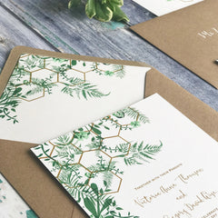 Geo Botanica Evening Wedding Invitations