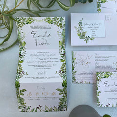 Hothouse Concertina Day Wedding Invitations