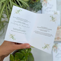 Botanical Boho Folded Evening Wedding Invitations