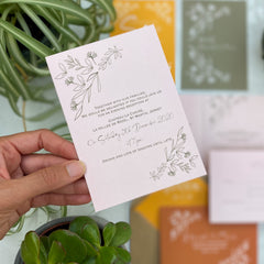 Botanical Linea colour customise Double Sided A6 Evening Invitation Cards