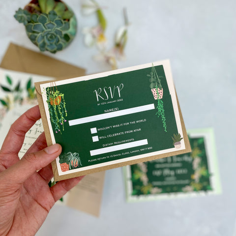 Botanical Glasshouse RSVP Cards