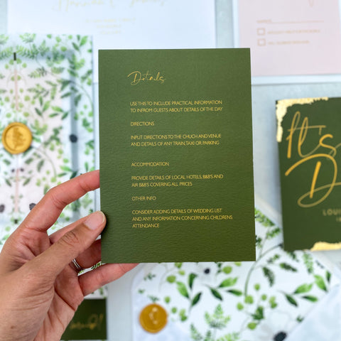 Wild botanical details card