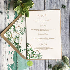 Geo Botanica Wedding Details Cards