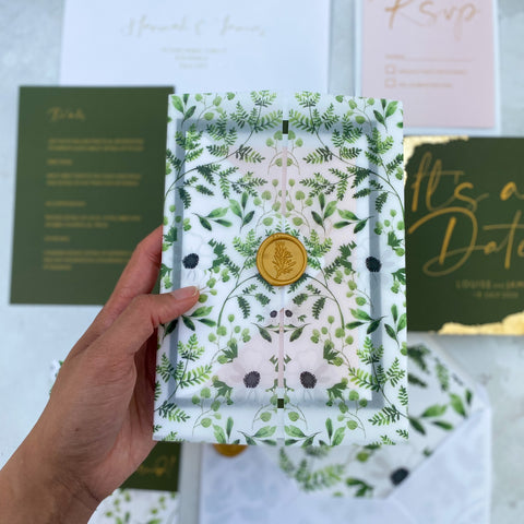 Wild botanical luxury vellum sample