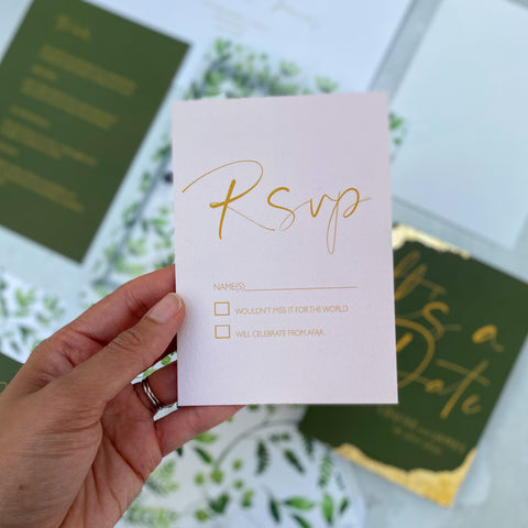 Wild botanical RSVP Cards