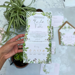 Hothouse Concertina Evening Wedding Invitations