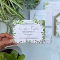 Hothouse Double Sided A6 Evening Invitation Cards