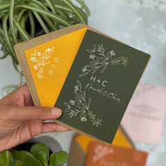Botanical Linea colour customise Envelope Liners