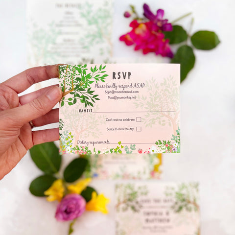 Enchanted Woodland RSVP Cards