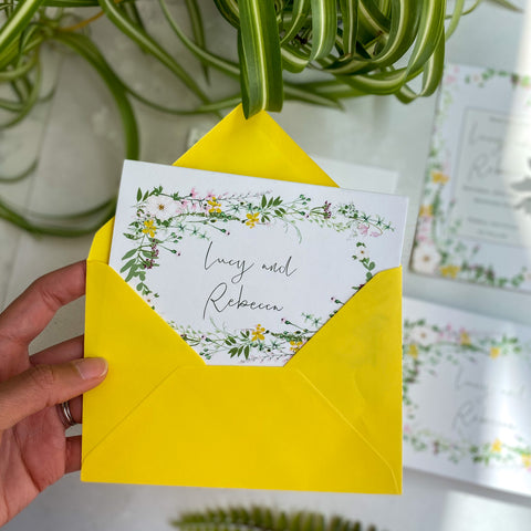 Spring Awakening Coloured envelopes