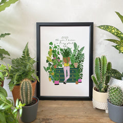 2020, The Year I Became A Crazy Plant Lady Print