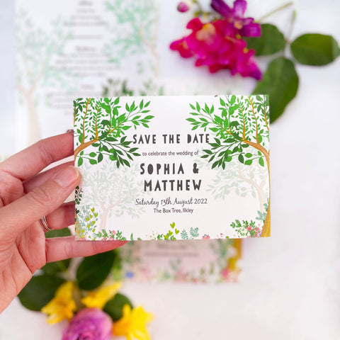Enchanted Woodland Save the Date Cards
