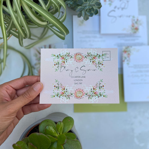 Botanical Boho RSVP Cards