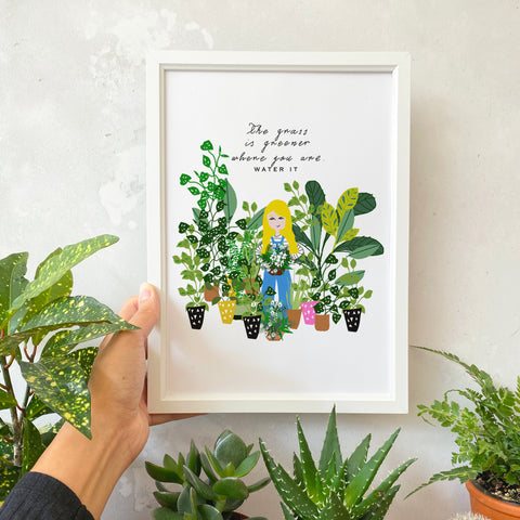 Grass is Greener Print