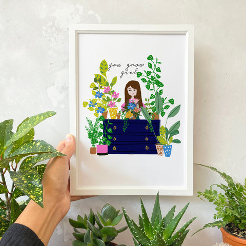 You Grow Girl Print