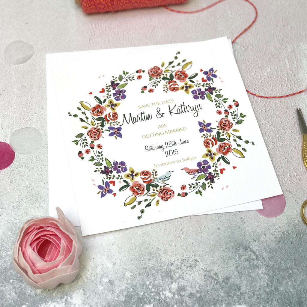 Enchanted Garden Save the Date Cards