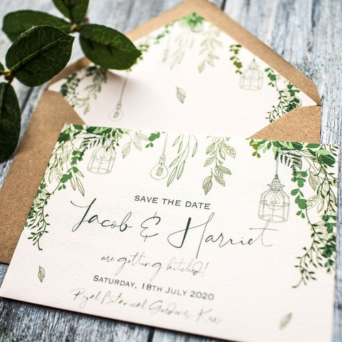 Botanical Wilderness Save the Date Cards