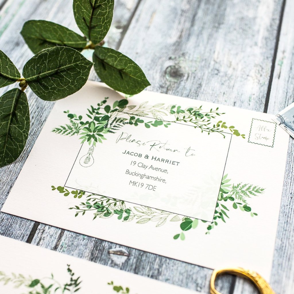 Botanical Wilderness RSVP Cards