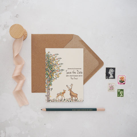 Majestic Woodland Save the Date Cards
