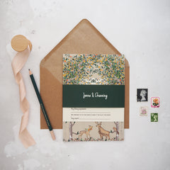 Majestic Woodland Evening Wedding Invitations