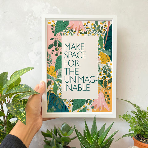 Inspirational Quote and Botanical Art Print