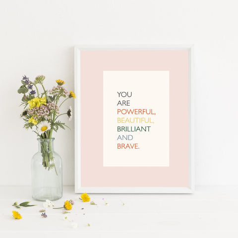Positive Affirmations Print