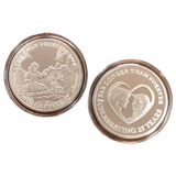 Commemorative Silver Coin - Heart Couple