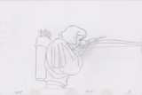 Swan Princess Hand-Drawn Pencil Art Cel