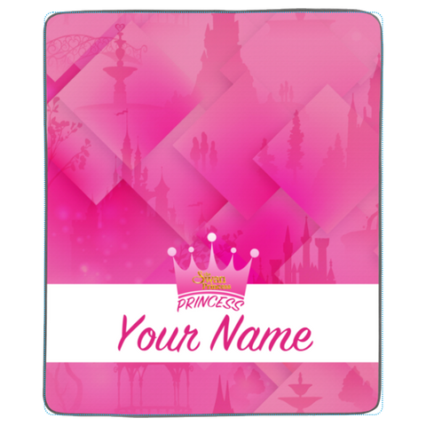 Personalized Your Princess Name Pixel Fleece Blanket