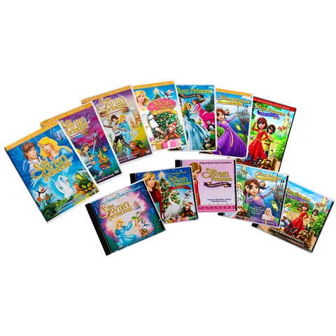 12 Pack Swan Princess Movie and Music