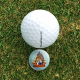 Golf Hat Clip with Magnetic Ball Marker