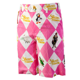 Men's Pink Argyle Shorts