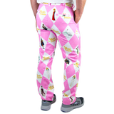 Men's Pink Argyle Pants
