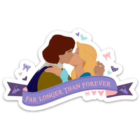 Far Longer Than Forever Vinyl Sticker