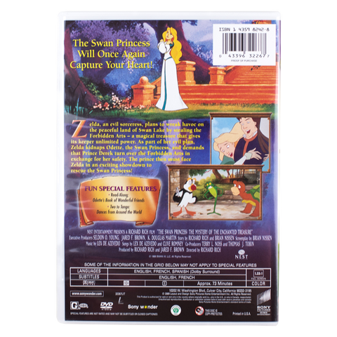 the swan princess the mystery of the enchanted treasure full movie