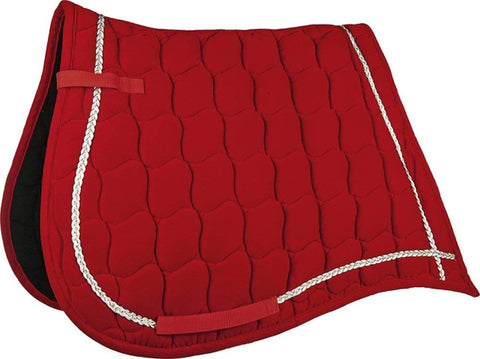 velvet red saddle pad