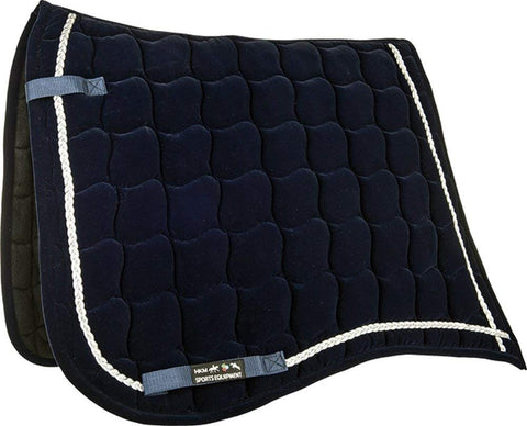 velvet blue saddle pad