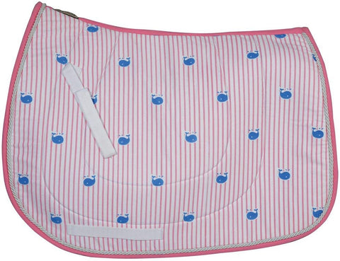 whale saddle pad