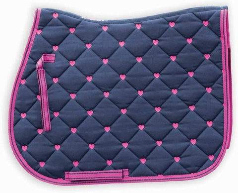 heart velvet saddle pad