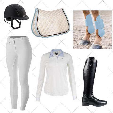 EVENTING OUTFIT LIGHT BLUE