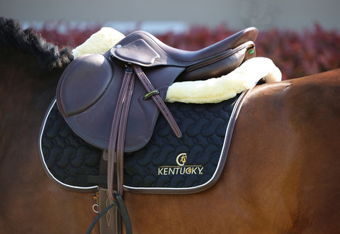 faux sheepskin saddle pad
