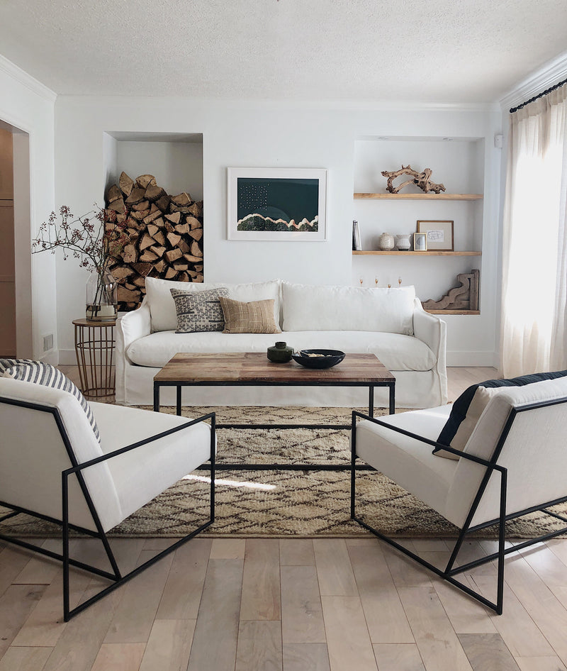 A Rustic Modern Living Room Makeover