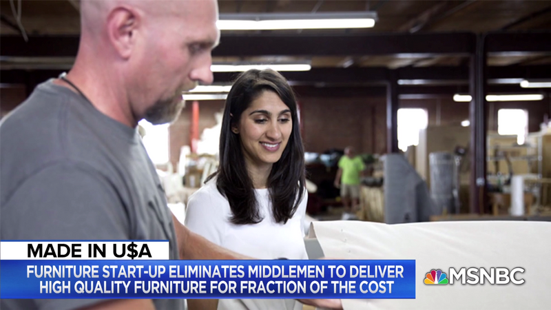 MSNBC Live: This CEO's Furniture Company is Disrupting the Industry