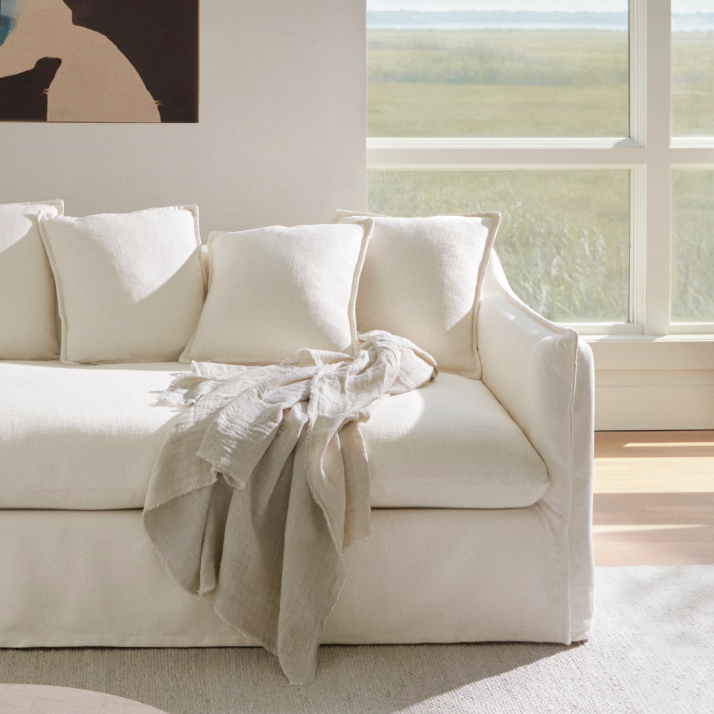The Dune Sofa in Alabaster Performance Chenille