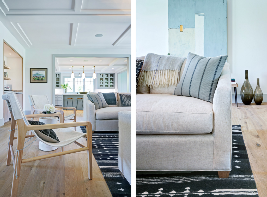 Maiden Home Nantucket island home tour Sullivan sofa and Hayes chair