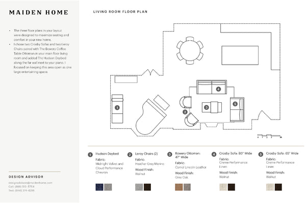 Maiden Home Design Advisory Services Floor Plans
